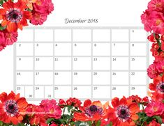 Grab your FREE 2018  Floral Calendar! yourlifeenhanced.net