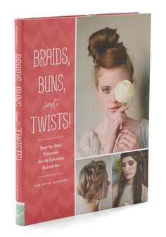 Braids, Buns, and Twists. Learn the all the tricks to flourish your tresses with this tutorial tome from Chronicle Books.  #modcloth