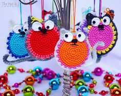 CROCHET PATTERN  Curious Cats  a colorful cat pattern