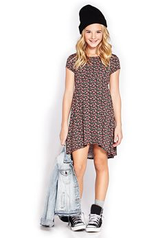 Micro-Floral Dress (Kids) | FOREVER21 girls - 2000126601