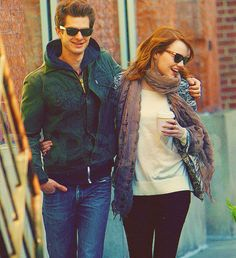 Andrew Garfield and Emma Stone. The cutest couple Hollywood ever created.