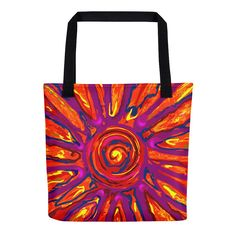 "Tote Bag: ""SOLAR SPLASH"" PATH of TOTALITY Solar Eclipse August 21, 2017"