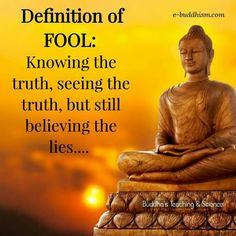 A fool is someone who knows the truth, sees the truth, but still believes the lies.