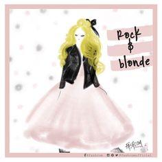 "Fashcom on Instagram: ""We love rock and roll! • #fashion #fashcom #illustration #comic #fashioncomic #rock #rockandroll #blonde #rockstar #fashionillustration"""