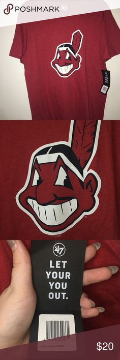 Cleveland Indians Shirt Cleveland Indians baseball team shirt. The shirt is new with tags, never been worn. 47 Shirts Tees - Short Sleeve