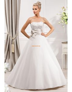 Spring Zipper Natural Wedding Dresses 2014