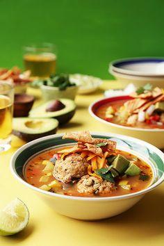 Chicken Meatball Tortilla Soup