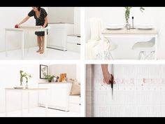 GUIDE & VIDEO - Puss opp bordet ditt med kontaktplast! Se hvordan på bloggen her. Mye billigere enn å kjøpe nytt og mye enklere enn å male. www.lindasdekor.no #lindasdekor #oppussing #inspirasjon #hjem #diy #gjørdetselv #interiør #kontaktplast #selvklebendefolie #folie #dekorplast #stuebord #spisebord #bord #stue Bath Mat, Rugs, Design, Home Decor, Farmhouse Rugs, Decoration Home, Room Decor, Home Interior Design