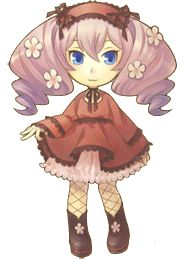 Luna in her fall/winter outfit from Harvest Moon: Animal Parade