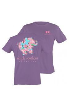Simply Southern Short sleeve elephant tee purple, so cute!!