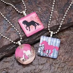 Glass Horse Necklace