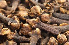 Nelkenöl – Caryophylli floris aetheroleum Ätherisches Öl mit desinfizierender Wirkung  Die medizinischen Wirkstoffe der Gewürznelke sind die getrockneten Blütenknospen des Baums, die Gewürznelken genannt werden, und das daraus gewonnene ätherische Öl (Nelkenöl). Nelkenöl wirkt vor allem betäubend, schmerzlindernd und desinfizierend. Es kann eine ganze Reihe von Bakterien, Pilzen und Viren abtöten.  Enthält außerdem Zimtaldehyd und Benzoate (Allergie!)