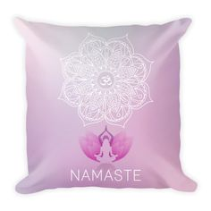 Om Mandala Namaste  Pillowcase w/ stuffing