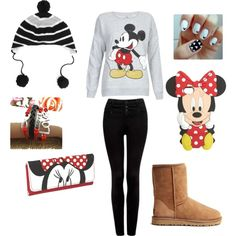 """""""Mickey and Minnie mouse outfit!!"""" by outfitsofeveryday123 on Polyvore"""