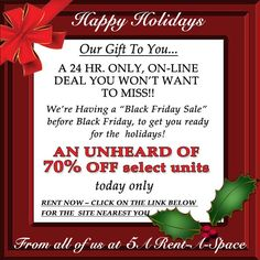 50% Off Select Storage Units At 5A Rent A Space. Contact The Location  Closest To You For Pricing! Www.5aspace.com | Self Storage | Pinterest | Storage  Units ...