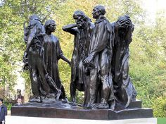 The Burghers of Calais (1884–ca. 1889) in Victoria Tower Gardens, London, England.