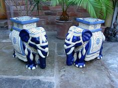 Ceramic Elephant Garden Stools, Pair | Classical African Furnishings U0026  AccessoriesCVvvv | Pinterest | Stools And Garden Seat