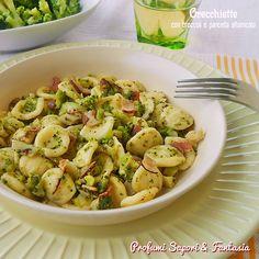 Orecchiette con broccoli e pancetta affumicata g