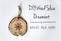 1 - DIY Wood Slice O