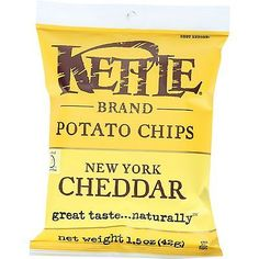 Chips 179179: Kettle Brand Potato Chips - New York Cheddar - 1.5 Oz - Case Of 24 -> BUY IT NOW ONLY: $31.11 on eBay!
