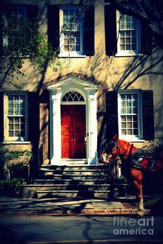 Charleston Photograph - House Door 3 In Charleston Sc by Susanne Van Hulst Ennis House, Antebellum Homes, Ivy House, Horse Carriage, House Doors, Great Restaurants, Charleston Sc, Historic Homes, South Carolina