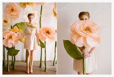 DIY Wedding Round Up   DIY Giant Paper Flower