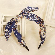 蝶弓フラワーヘアバンド花輪素敵なヘッドバンドのウサギの耳カチューシャ帽子ヘアアクセサリー用女性