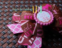 Pink Cowgirl Hair Bow by MyBirchBaby on Etsy, $7.50