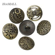 Hoomall 30 Pz 17mm Vintage Cucire Bottoni Jeans Flower Pattern Decorativo Accessori Da Cucire Bottoni Metallici Misti Tono del Bronzo(China (Mainland))