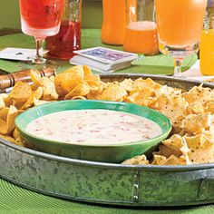 40 Party Appetizer Recipes: Spicy White Cheese Dip (crock pot, looks very easy)