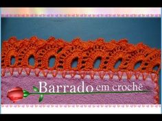 BARRADO EM CROCHÊ CARREIRA ÚNICA (corrigido) - YouTube
