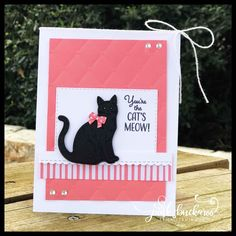 Nine Lives; Dog Cards, Kids Cards, Cat Birthday, Birthday Cards, Dogs Tumblr, Animal Gato, Pet Sympathy Cards, Stamping Up Cards, Animal Cards