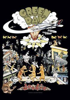 "Bandiera ""Dookie"" dei #GreenDay. Dimensioni: 75 x 110 cm."