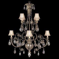 Fine Art Lamps A Midsummer Nights Dream 162740ST Eight-Light 38'' Wide Grand Chandelier | FA162740ST