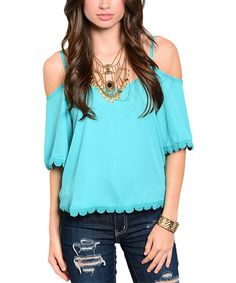 This Emerald Off-Shoulder Top is perfect! #zulilyfinds