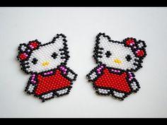 #Hello Kitty из бисера. Игрушка Хелло Китти.