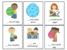 Easter Pronoun Game: Freebie! A great activity for speech therapy or a center in a regular education classroom.