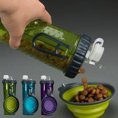 This Portable Pet Food And Water Bottle are made from the highest quality silicone and plastic glasses and awesome foldable food container to ensure satisfaction for your pet.