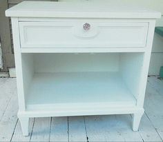 Shabby chic nightstand after