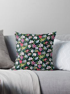 A colourful floral print glowing in the darkness of the night. A blooming tropical field. Rich and powerful feminine flower pattern. Flower Patterns, Darkness, Floral Prints, Tropical, Bloom, Feminine, It Is Finished, Phone Cases, Throw Pillows