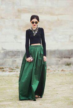 Love the maxi skirt...