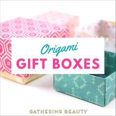 Want to know how to make an easy origami box? Then look no further. You can make these beautiful origami gift boxes complete with lids in minutes. Perfect for any last minute gift giving occasions paper box Make easy diy origami gift boxes Origami Gift Box, Origami Ball, Paper Crafts Origami, Diy Gift Box, Easy Diy Gifts, Diy Crafts For Gifts, Paper Crafting, Origami Bookmark, Diy Crafts With Paper