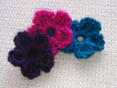 Flower Accents - Purple, Pink and Blue