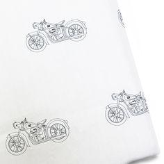 Project Nursery - Vintage Motorcycle Print Crib Sheet from Pemberley Rose