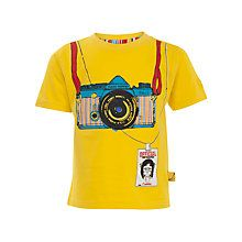 Buy Funky Monkey Camera T-Shirt, Yellow Online at johnlewis.com