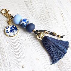A personal favourite from my Etsy shop https://www.etsy.com/au/listing/543880057/blue-tassel-keychain-tassel-bag