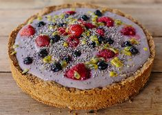 Berry & Chia Cheesecake.  A DF& NF dessert packed full of beautiful nourishing fats, proteins and carbohydrates.