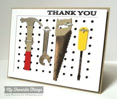 masculine thank you tools card by Jody Morrow
