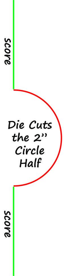 """2"""" Circle & Bib Card Making Die"""