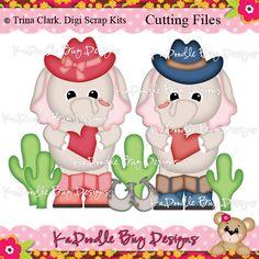 Giddy Up Paper Piecing Pattern, Cutting File, Scrapbook, Silhouette Studio, SVG File, MTC, SCAL, Trina Clark